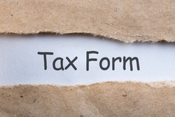 Tax form - Notification of the need to file tax returns, tax form in torn envelope