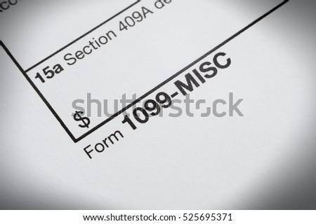 Tax 1099 Misc form Stock foto ©