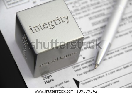 Tax preparation integrity concept.