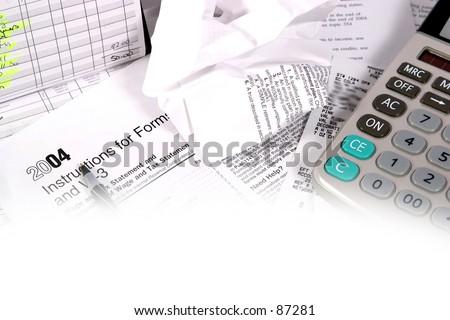 Tax preperation 8 - stock photo