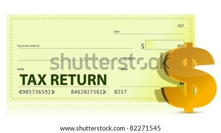 Tax Return Check illustration design - stock photo