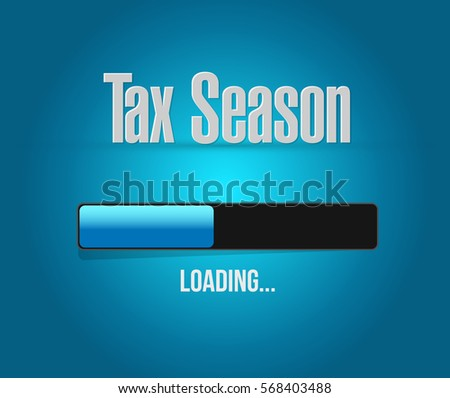 tax season loading bar sign concept. Illustration design isolated over white