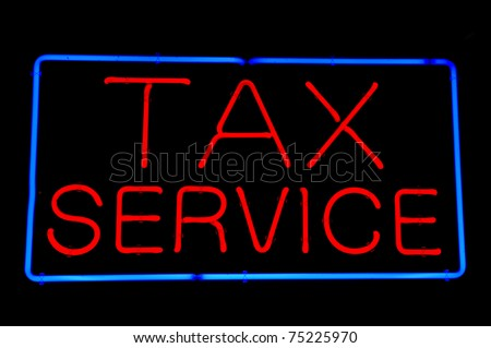 Tax Service Red Neon Sign