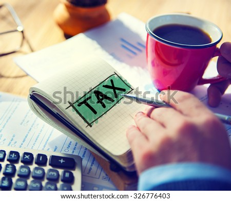 Tax Taxing Taxation Taxable Taxpayer Finance Concept Stock photo ©