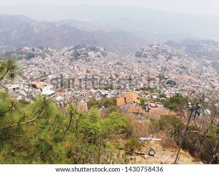 TAXCO, GUERRERO/MEXICO-APRIL 22RD 2019:  taken from the observatory of Christ.