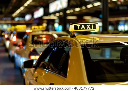 Taxi - Shutterstock ID 403179772