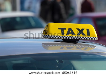Taxi - stock photo