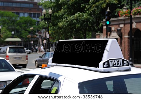 Taxi billboard blank space for outdoor advertising