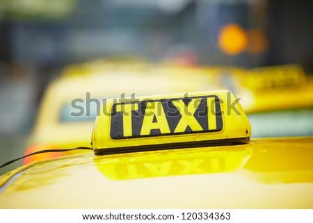Taxi cars - selective focus