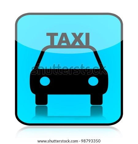 Taxi icon isolated on white background - stock photo