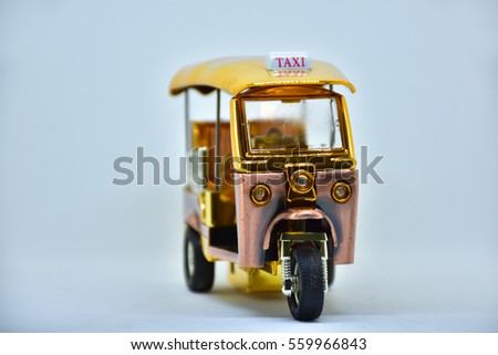 taxi tuk-tuk metal model