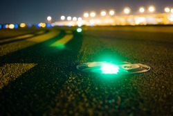 Taxiway light.