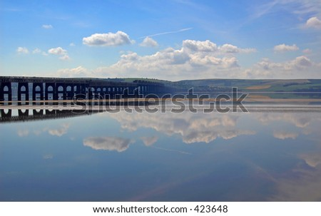 Tay rail bridge across the river tay, dundee, scotland, 2005