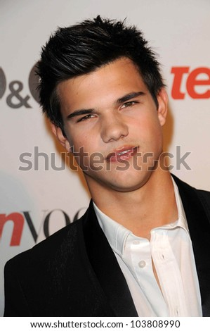 Taylor Lautner at the 7th Annual Teen Vogue Young Hollywood Party. Milk Studio, Hollywood, CA. 09-25-09