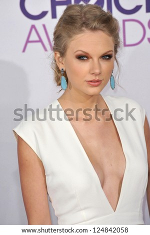 Taylor Swift at the People's Choice Awards 2013 at the Nokia Theatre L.A. Live. January 9, 2013  Los Angeles, CA Picture: Paul Smith - stock photo