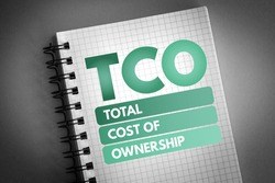 TCO - Total Cost of Ownership acronym, business concept background