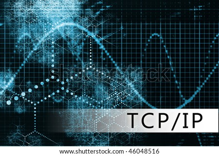 TCP/IP in a Blue Data Background Illustration