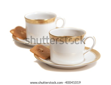 tea and almond biscuits