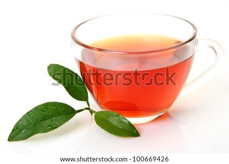 Tea and green leaf
