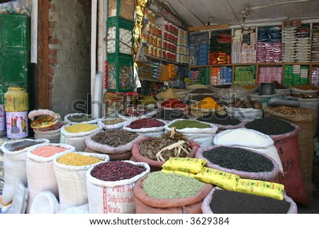 Tea and Spices in an Indian market