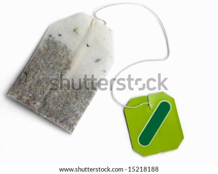 Tea bag on white background - stock photo