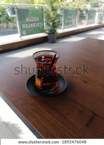 tea cay table dinlenme rize Stok fotoğraf ©