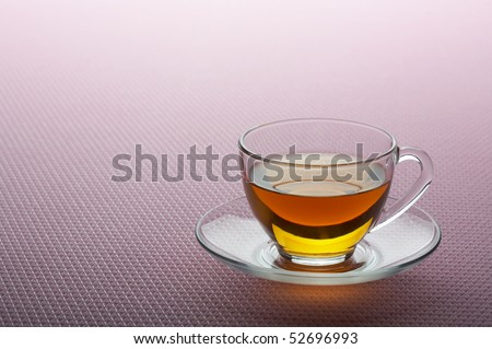 Tea cup on an impressive pink background