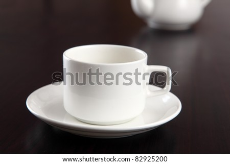 Tea cup on isolated on white.