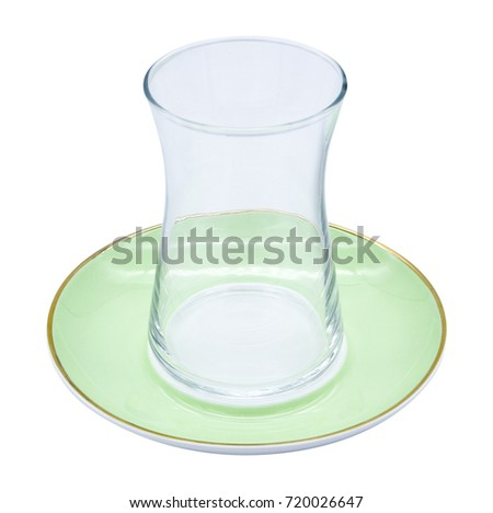 tea cup, turkish tea cup, tea cup and tea plate, white background #720026647
