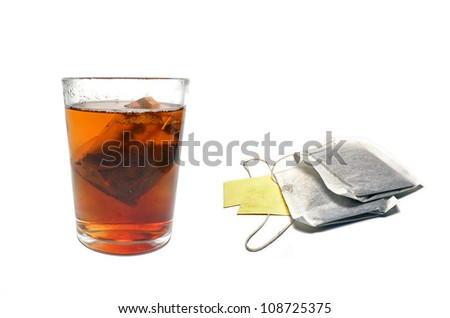 Tea cup with bag - stock photo