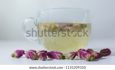 Tea EvaDia Mei Gui Hua Bao, Rose buds close-up. Flower and herbal tea, Mei Gui Hua. This category can also be called herbal infusions, or tisanes. A floral, exotic tea. Wellness and Detox.  #1135209350