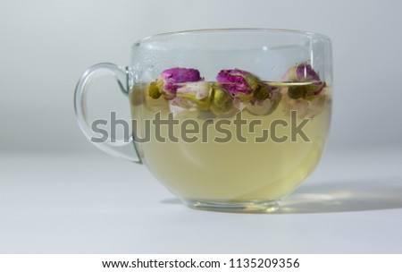 Tea EvaDia Mei Gui Hua Bao, Rose buds close-up. Flower and herbal tea, Mei Gui Hua. This category can also be called herbal infusions, or tisanes. A floral, exotic tea. Wellness and Detox.  #1135209356