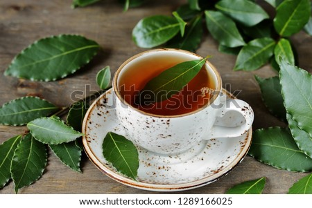 tea from bay leaf. useful hot drink is useful for colds, increases immunity,  has antiviral effect, soothes the nervous system, improves appetite.