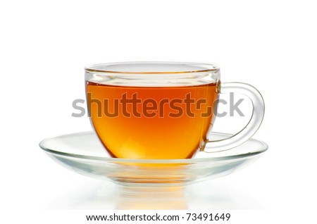 tea in cup  isolated on white background