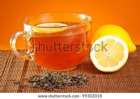 tea in soft warm evening light