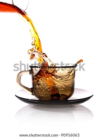 tea is poured