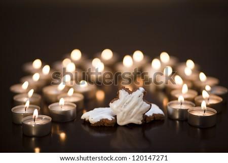 tea lights and sweets