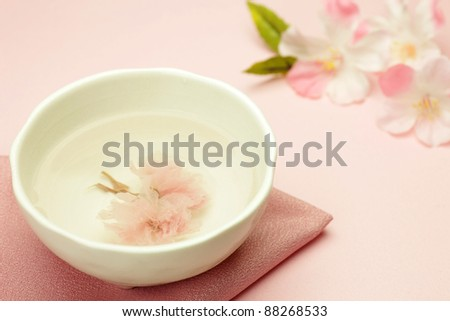 tea of cherry blossoms