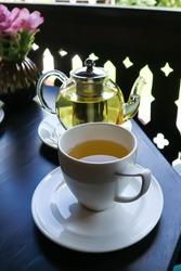 tea or hot tea, tea pot on the table
