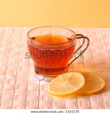 tea time - tea cup with lemon