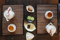 Tea with sweets ,a mei tea house, Jiufen old street, Taiwan