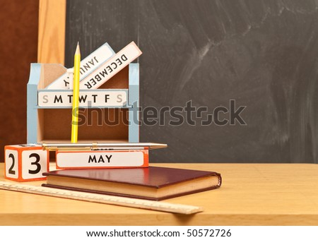 stock photo : Teachers Desk Accessories