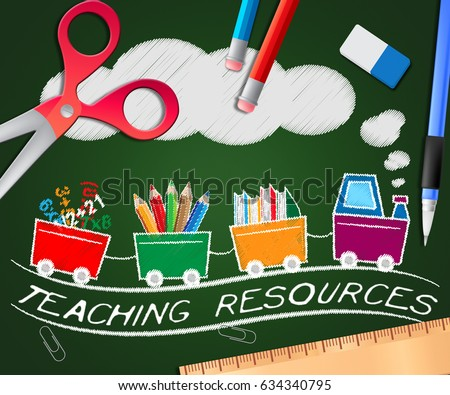 Teaching Resources Picture Showing Classroom Materials 3d Illustration
