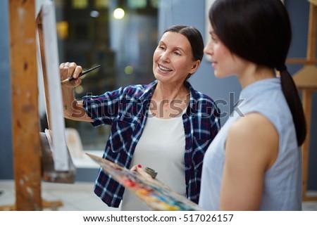 Teaching to paint