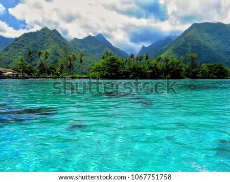 teahupoo tahiti south pacific #1067751758