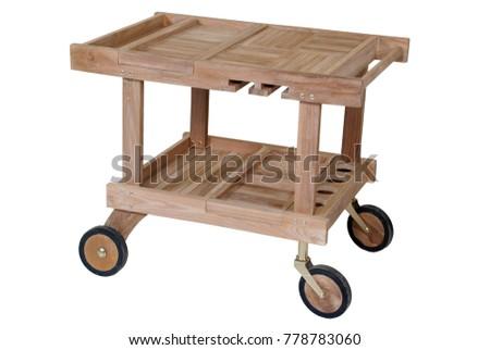 Teak garden furniture, Serving Trolly teak furniture