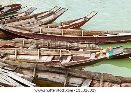teak wood boat stock photo 113328829 shutterstock