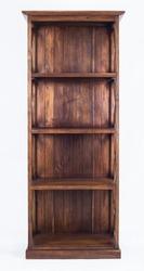 Teak wood cupboard vintage style isolated on white background