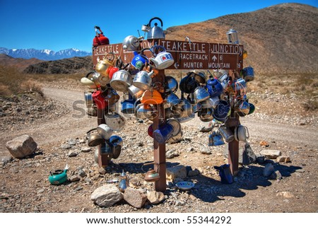 Teakettle Junction In Death Valley National Park California