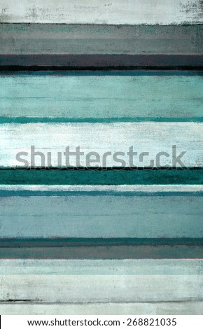 Teal and Grey Abstract Art Painting